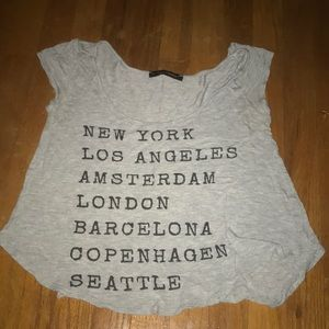 A super cute shirt with major cities on it